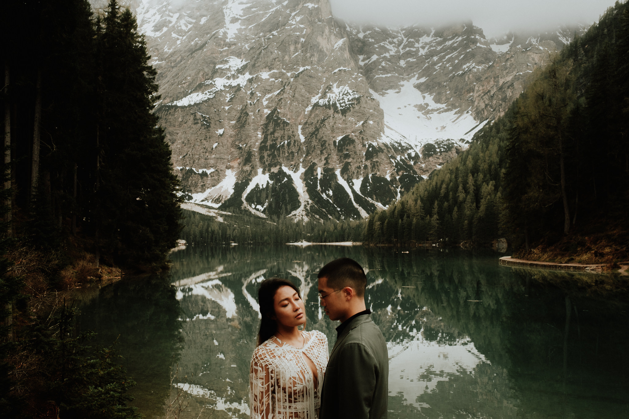 Wedding Photographers Hotel Lago di Braies Dolomites Italy