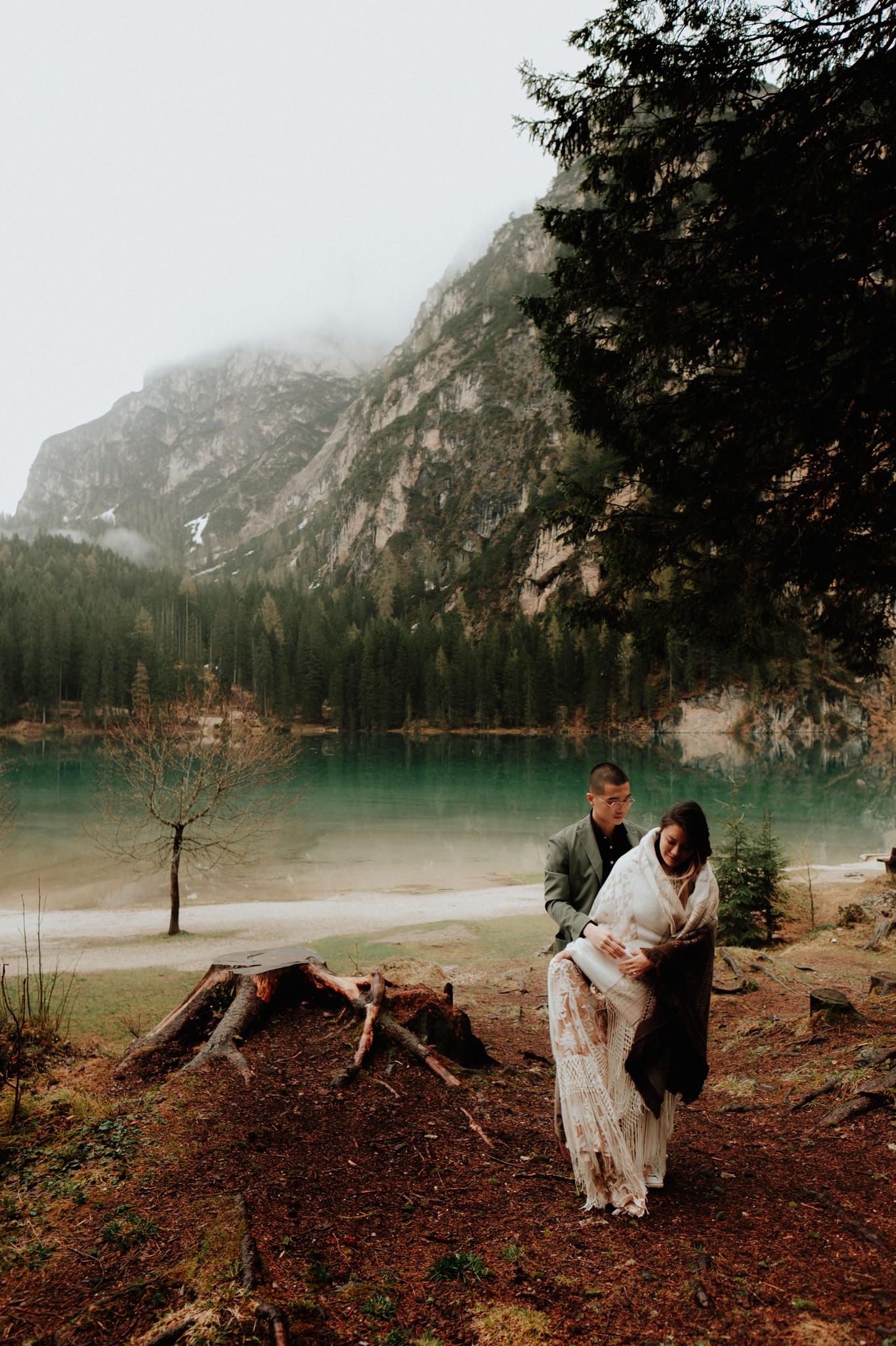 Italian dolomites elopement photographers