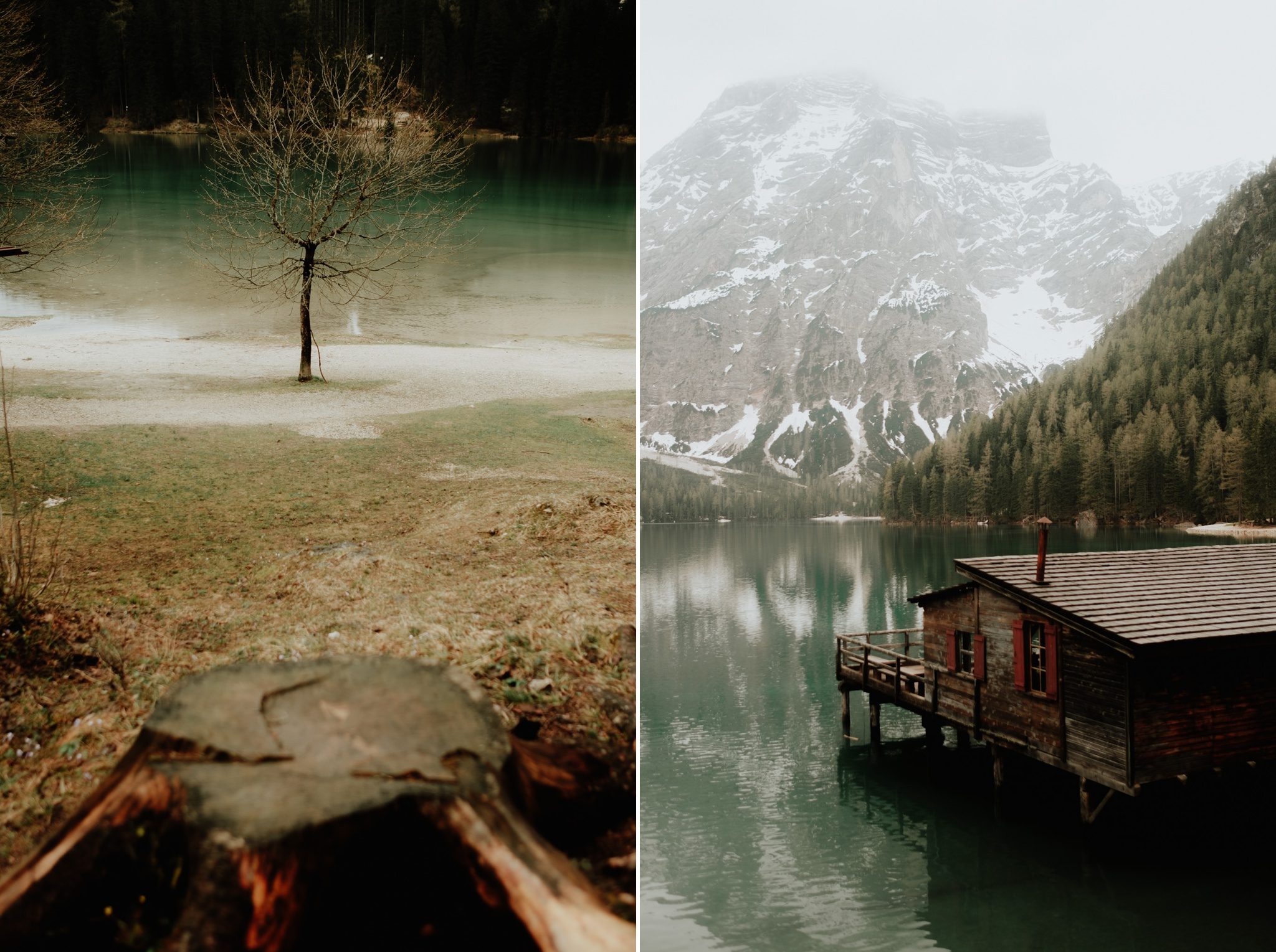 hotel lago di braies elopement photographers